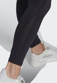 adidas Performance - FEELBRILLIANT DESIGNED TO MOVE TIGHTS - Leggings - black/white - 4