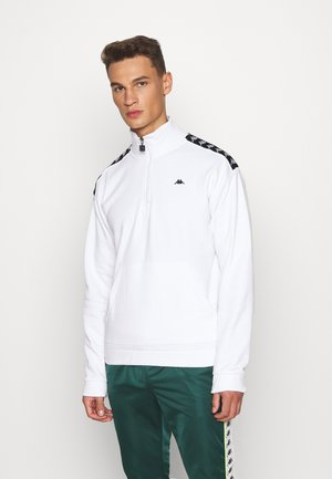 HASSO HALF ZIP - Felpa - bright white