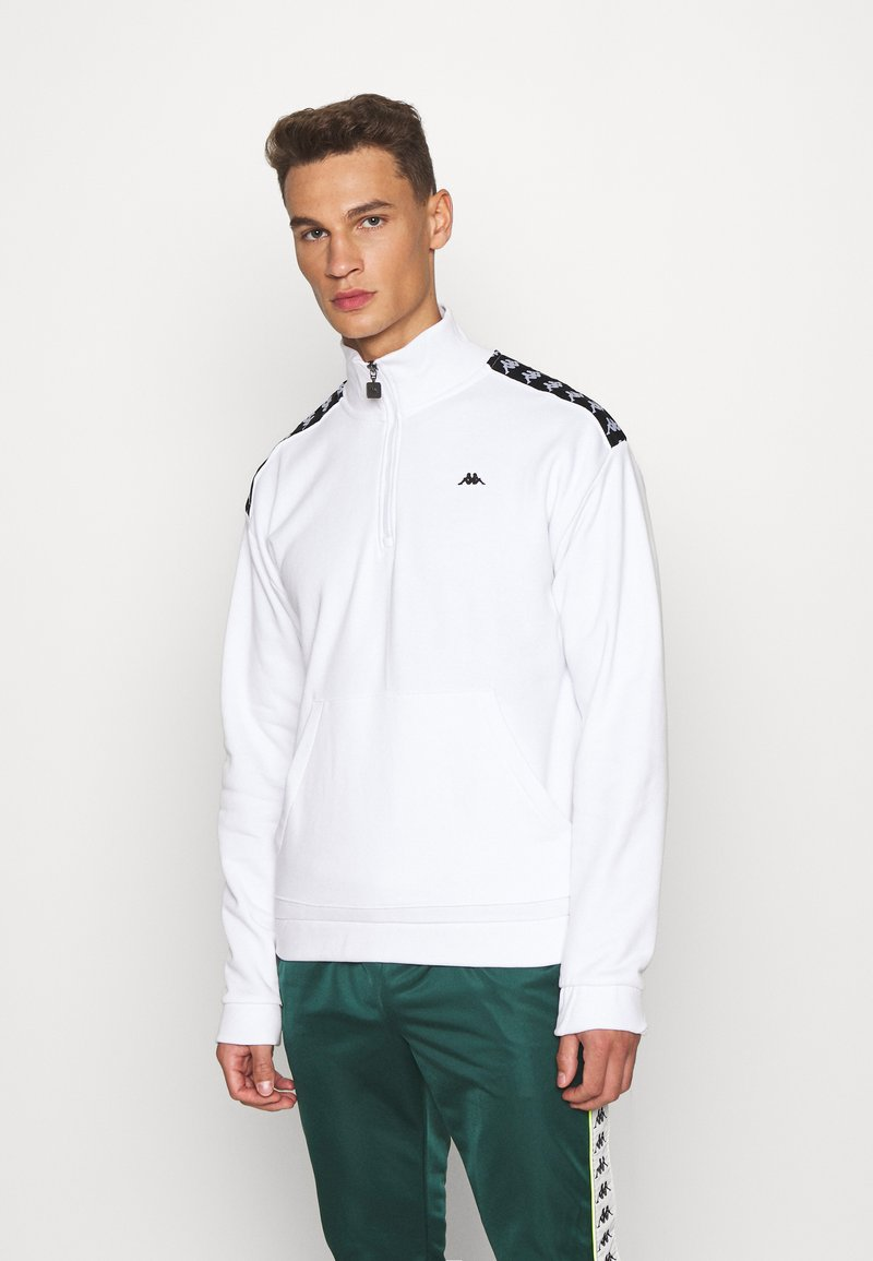 Kappa - HASSO HALF ZIP - Sweatshirt - bright white
