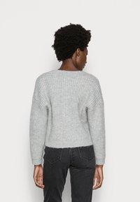 Zign - WOOL BLEND JUMPER - Cardigan - mottled grey - 2