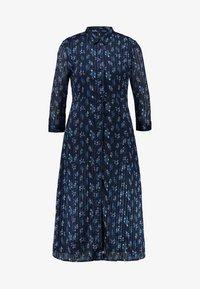YAS - YASRICHA 3/4 MIDI DRESS - Shirt dress - navy blazer - 4