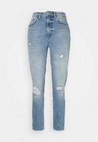 ONLVENEDA LIFE MOM DESTROY - Relaxed fit jeans - medium blue denim