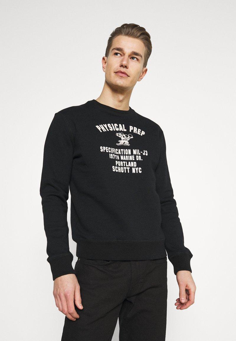 Schott - PHYSICAL - Sweatshirt - black