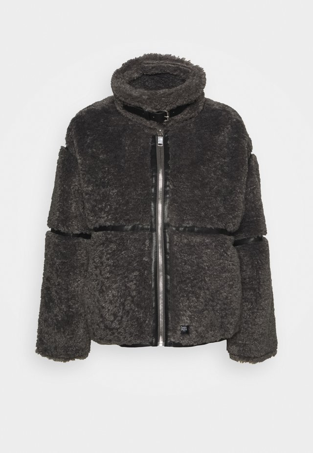 FLUFY AVIATOR JACKET - Winter jacket - grey
