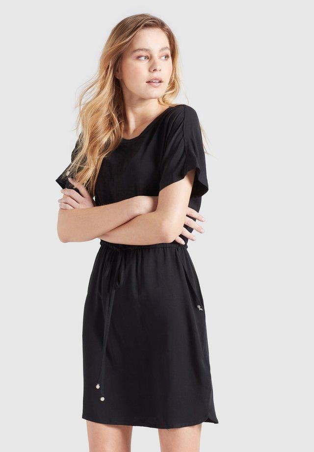 FIDELIA - Korte jurk - schwarz