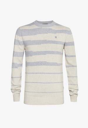 BROKEN STRIPE ROUND LONG SLEEVE - Trui - grey htr/whitebait htr stripe