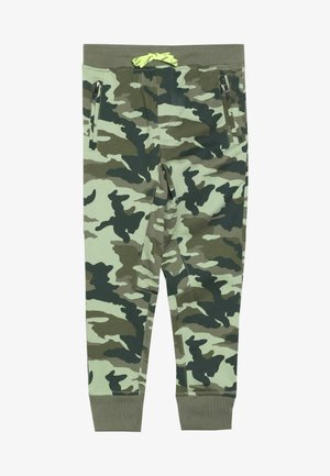 SLIM SLOUCHY  - Tracksuit bottoms - olive green
