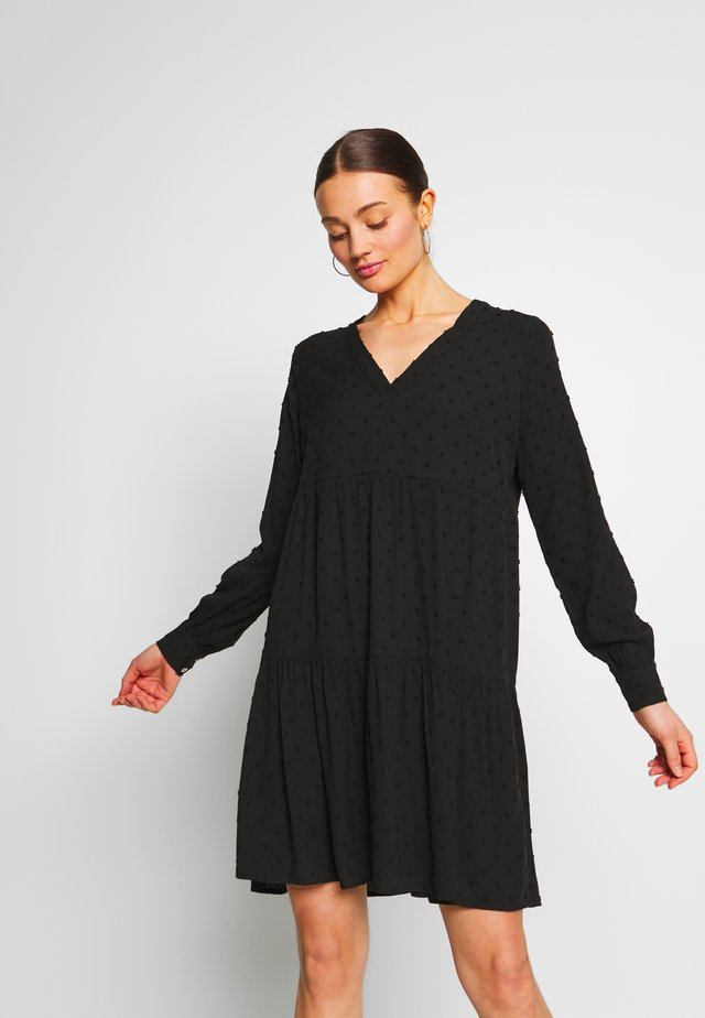 V-NECK DRESS - Day dress - black