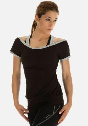 Print T-shirt - schwarz grey