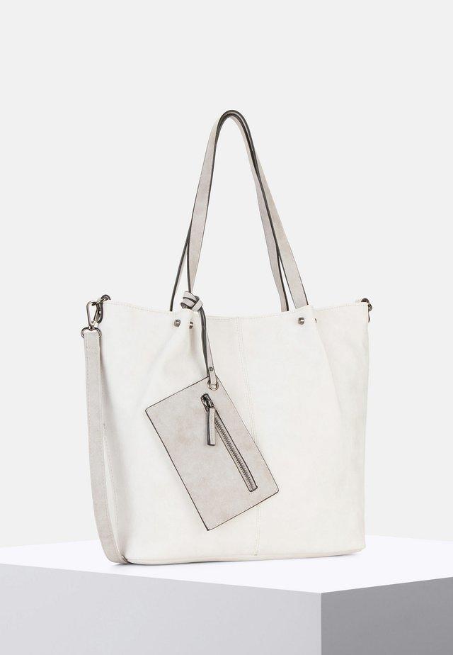 SURPRISE - Shopping bag - ecru/light grey