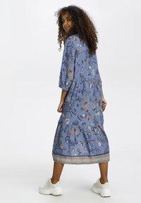 Cream - Day dress - blue saraza flower mix - 1