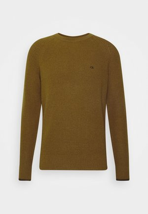 CREW NECK - Strickpullover - gold