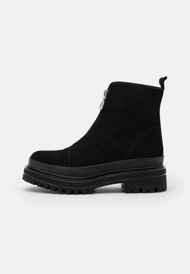 BIADICY ZIPPER BOOT - Bottines à plateau - black