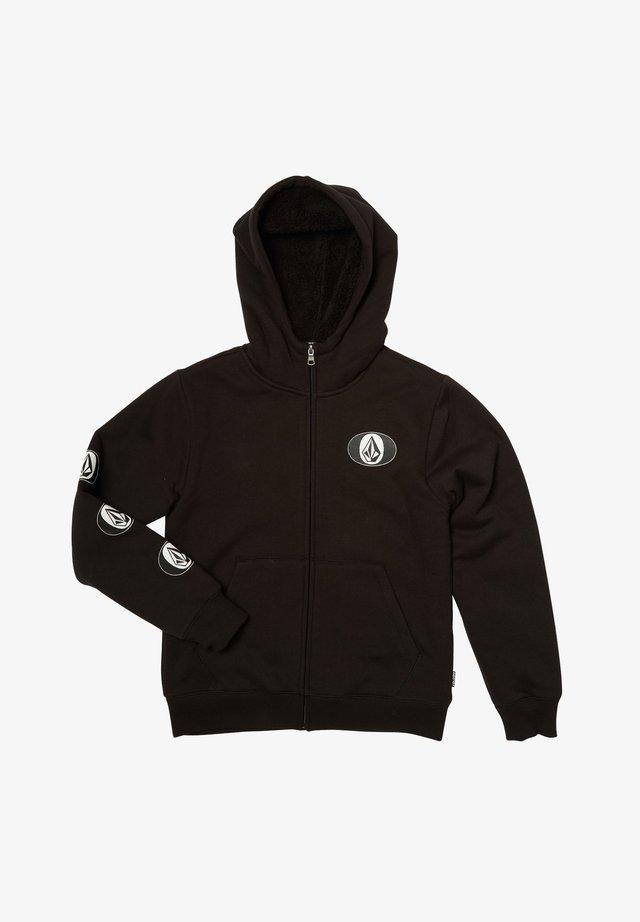 STONE STACK  - Zip-up hoodie - black