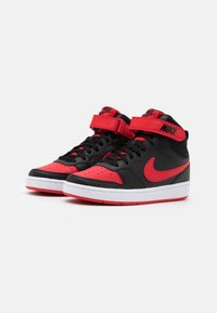 Nike Sportswear - COURT BOROUGH MID UNISEX - Vysoké tenisky - black/university red/white - 1