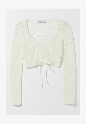 MIT SCHLEIFE  - Long sleeved top - off-white