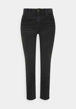 Jeansy Straight Leg - black dark wash