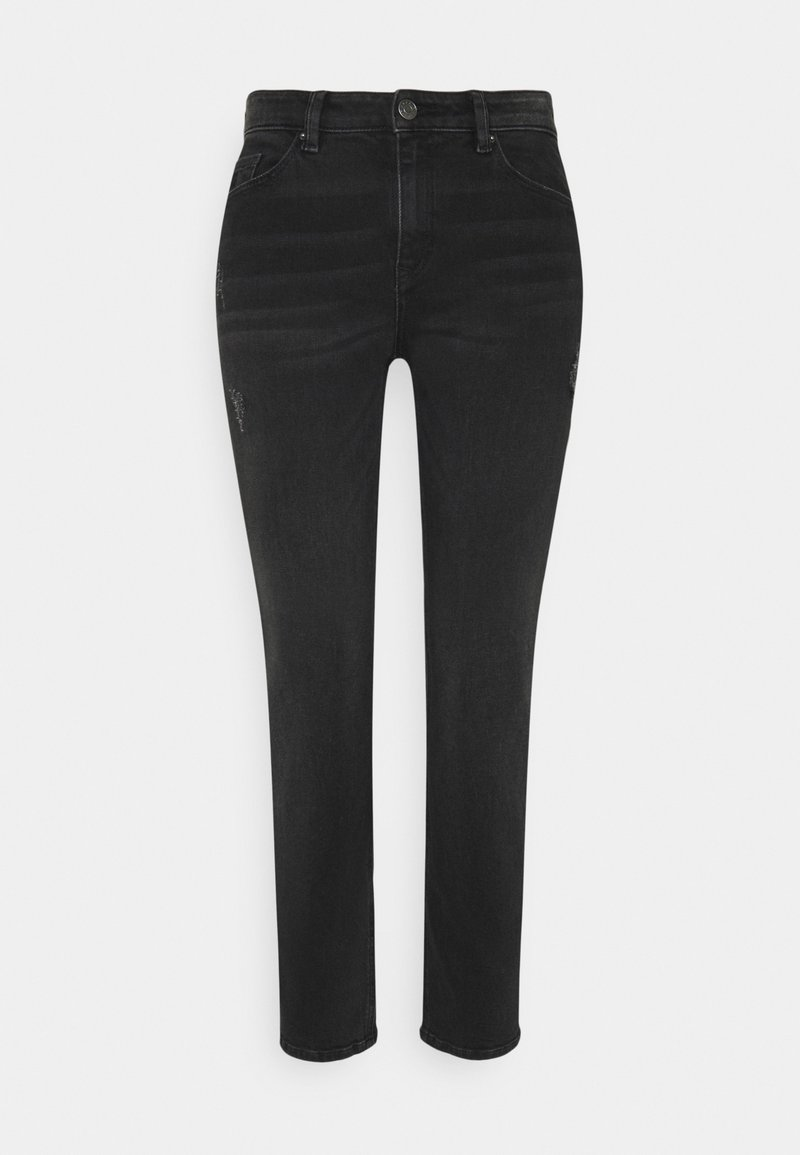 Esprit - Straight leg jeans - black dark wash