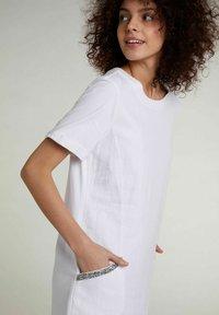 Oui - Jersey dress - optic white - 3