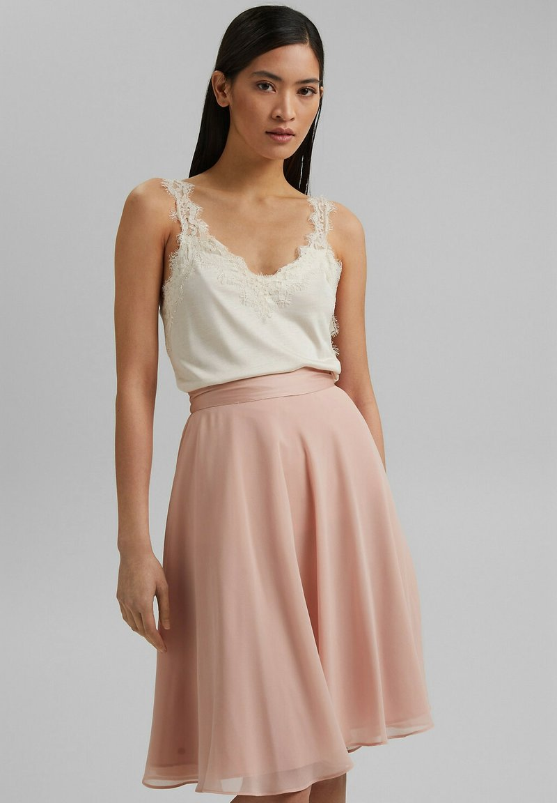 Esprit Collection - A-line skirt - nude