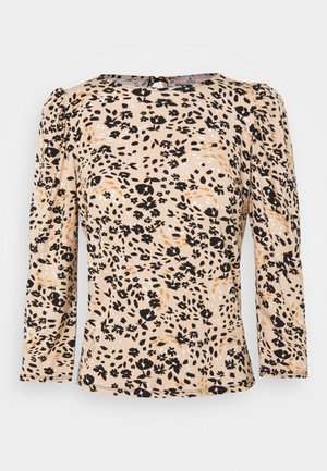 BILLIE AND BLOSSOM FLORAL PUFF SLEEVE - Blouse - camel
