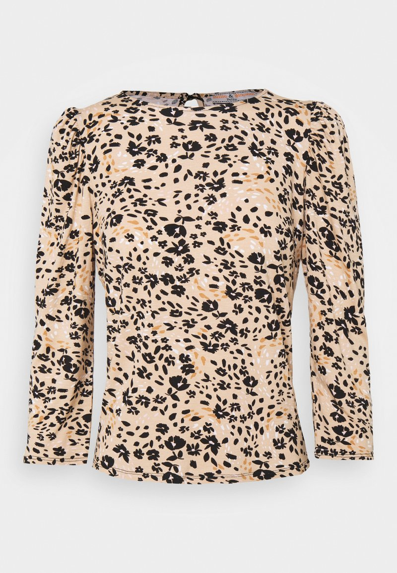 Dorothy Perkins Petite - BILLIE AND BLOSSOM FLORAL PUFF SLEEVE - Blouse - camel