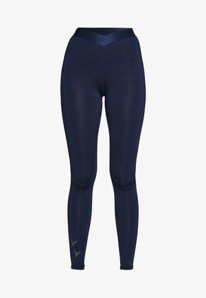 ONPMILEY TRAINING TIGHTS TALL - Leggings - Hosen - maritime blue/white gold