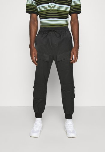 UTILITY PANTS - Cargo trousers - black