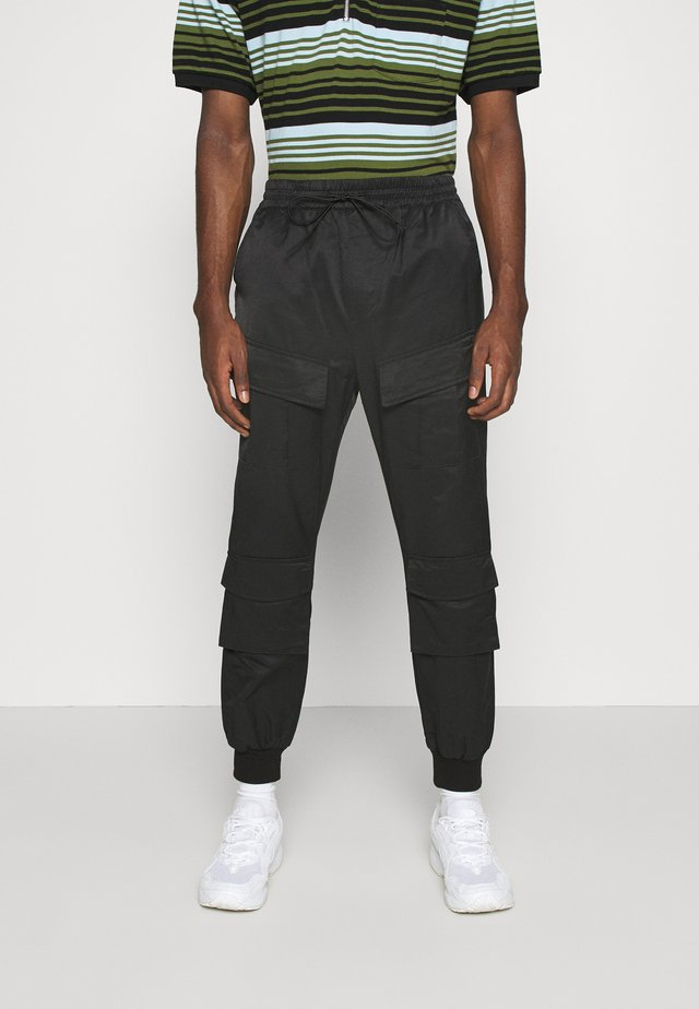 UTILITY PANTS - Pantalon cargo - black