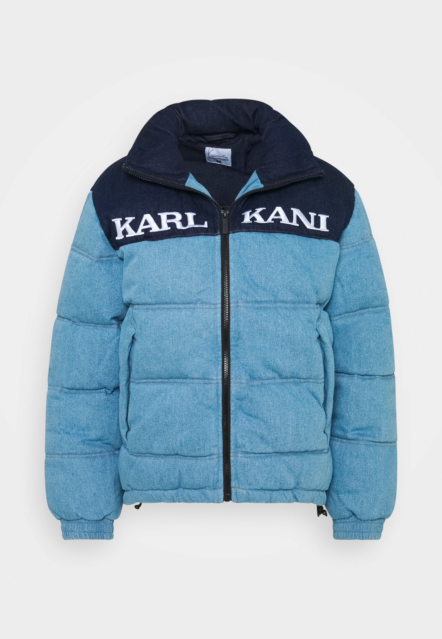 RETRO BLOCK PUFFER JACKET Vinterjakke blue