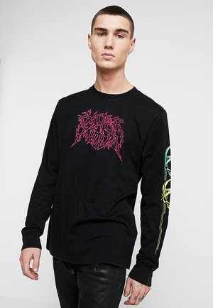 T-JUST-LS-B5 PULLOVER - Long sleeved top - black