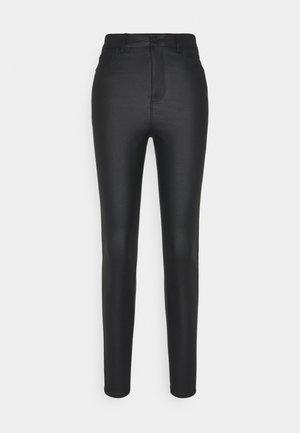 VMLOA COATED PANT - Jeans Skinny Fit - black