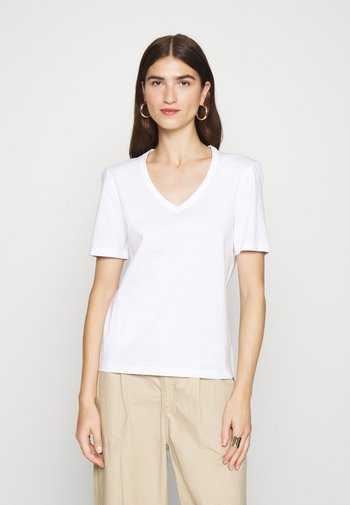 V NECK - Basic T-shirt - bright white