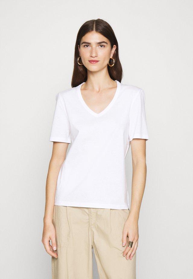 V NECK - T-shirt basic - bright white