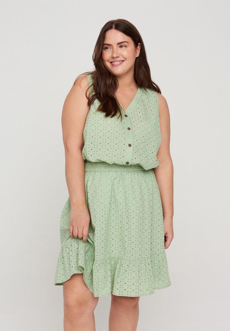 Zizzi - A-line skirt - silt green