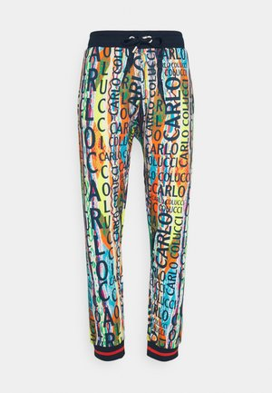 Tracksuit bottoms - white/multicolor