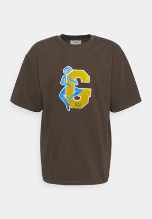 SINGGANG JUNCTION LOVE HEAVY WEIGHT TEE - Print T-shirt - brown