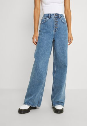 EXPOSED BUTTON FLY - Jeans baggy - dark vintage