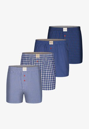 4ER PACK WEB CLASSIC - Boxershort - blue check