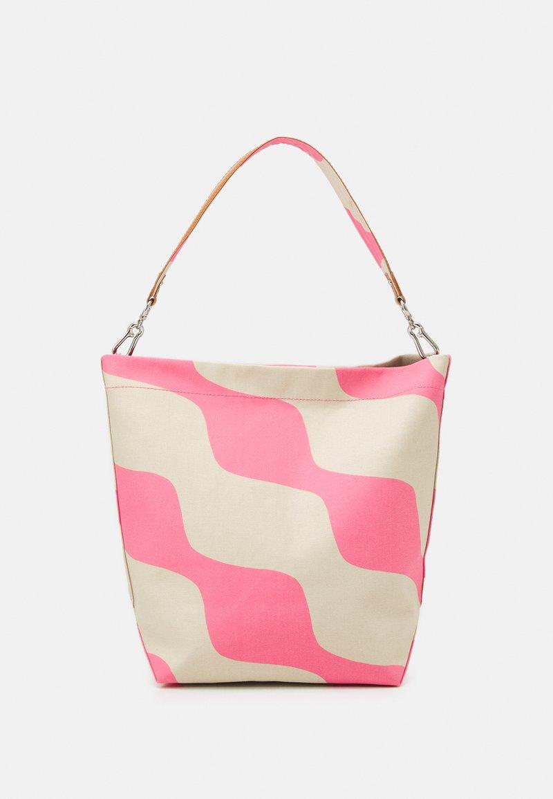 Marimekko - KUUNSÄDE TAIFUUNI BAG - Käsilaukku - brown/pink