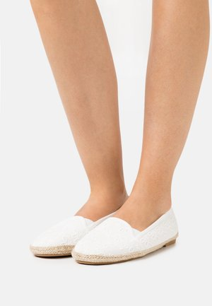 2 PACK - Espadrilles - white/black