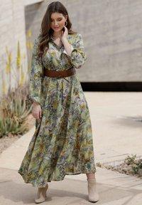 Sara Lindholm - Maxi dress - oliv,flieder - 2
