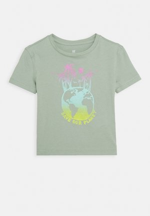 GIRLS BOXY - Camiseta estampada - jadeite