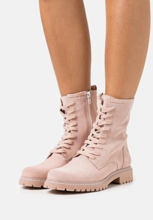 Šněrovací kotníkové boty - rose
