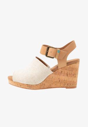 TROPEZ - High heeled sandals - natural
