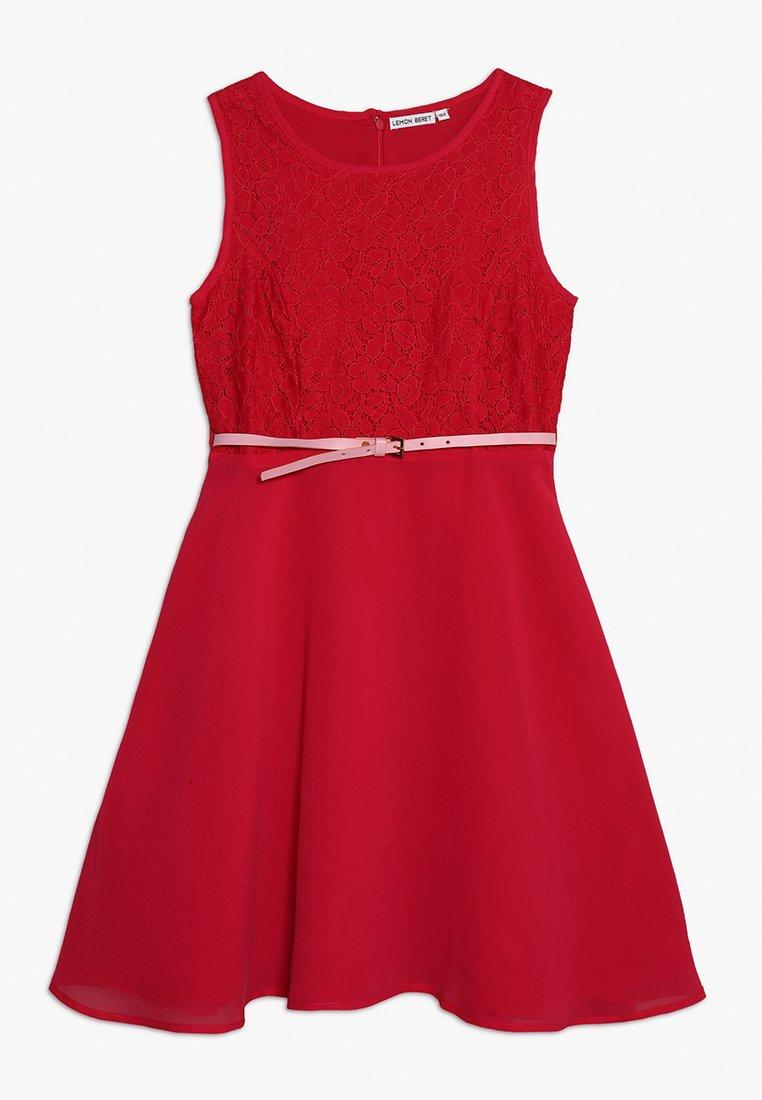 Lemon Beret - TEEN GIRLS DRESS  - Cocktailklänning - dark pink