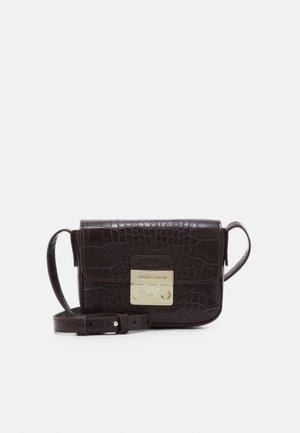 GIORGIA CROCO WOMEN'S MINIBAG - Across body bag - dark brown