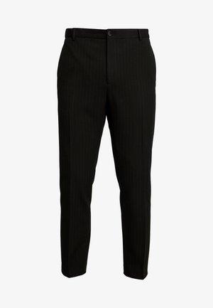 PINSTRIPE TROUSER CASUAL - Kalhoty - black