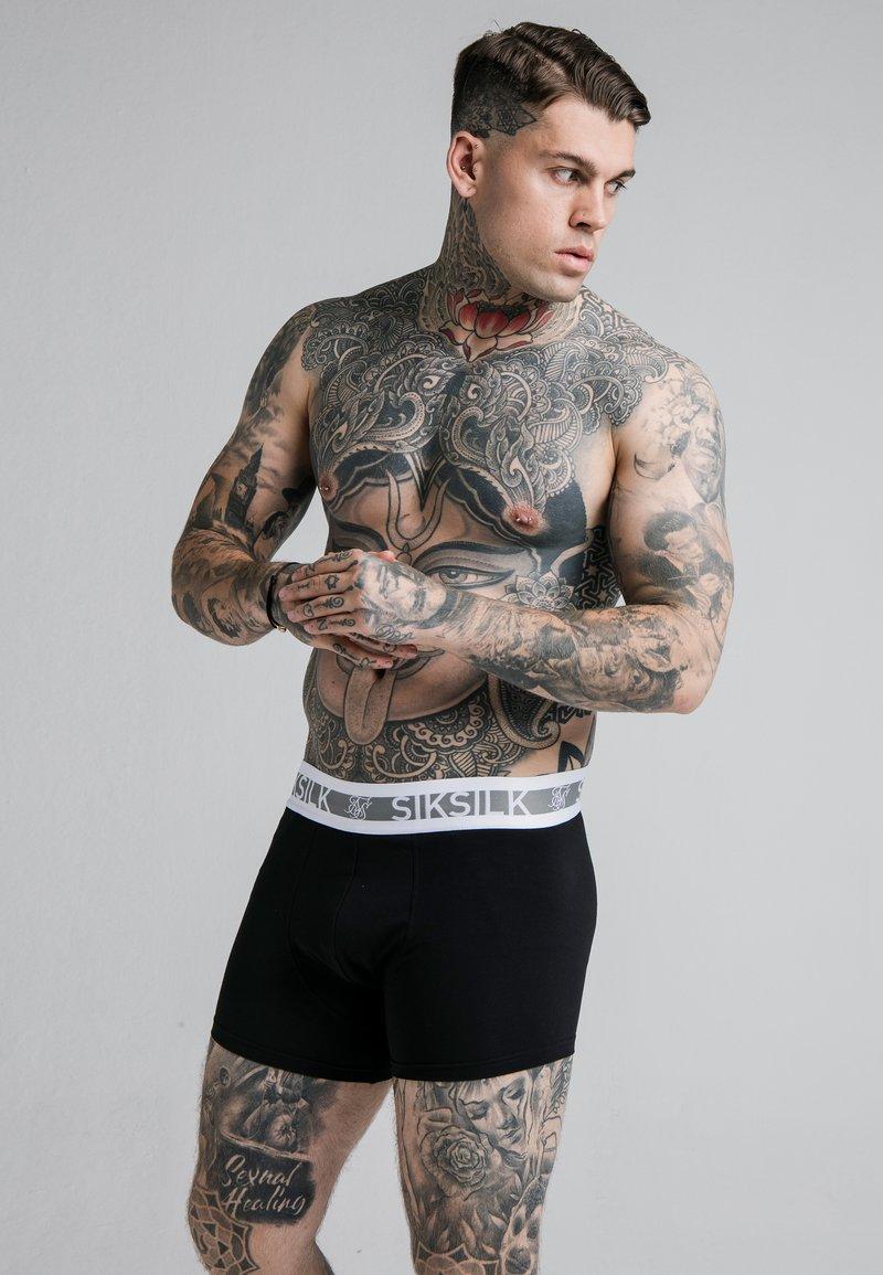 SIKSILK - TAPED 2 PACK  - Pants - black/white