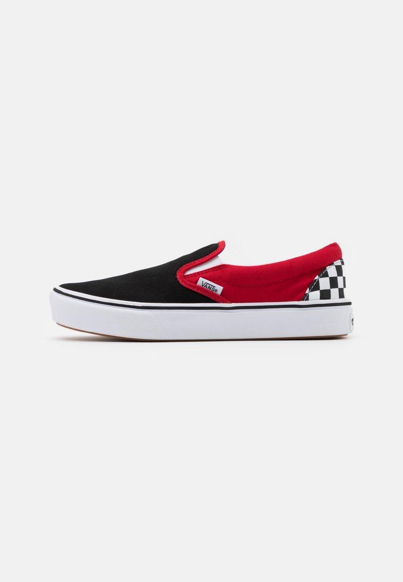 Vans - COMFYCUSH - Nazouvací boty - black/red